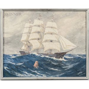 Frederick Leonard King (American, 1879-1947)      Ship at Sea
