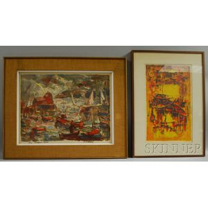 Two Works:      Harold Rotenberg (American, 1905-2011), Rockport, Mass.