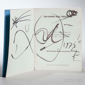 Dali, Salvador (1904-1989) Exhibition Catalog, Signed Copy.