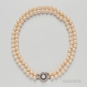 Double-strand Cultured Pearl Necklace