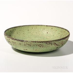Gertrude and Otto Natzler Shallow Pottery Bowl
