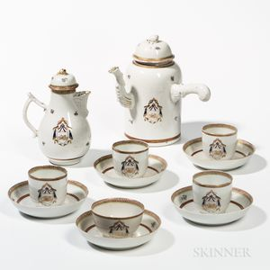 Armorial Export Porcelain Tea/Coffee Service