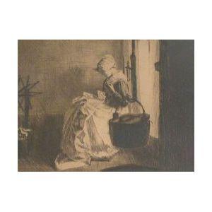 Framed Print of  Young Girl Fireside