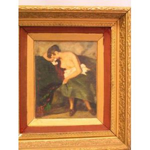 Framed Oil Portrait Study