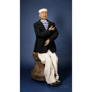 "Life-Size Laughing Sailor Automaton from the Film ""Sleuth"""