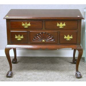 Chippendale-style Carved Mahogany Lowboy.