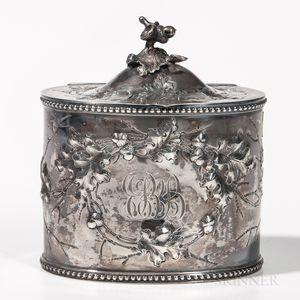 Jones, Ball & Co. Coin Silver Tea Canister