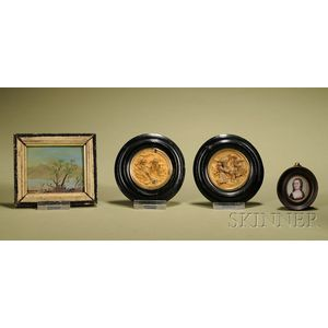 Four Miniature Plaques and Paintings
