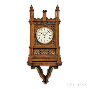 Smith & Sons Rosewood Chiming Gothic Clock and Bracket