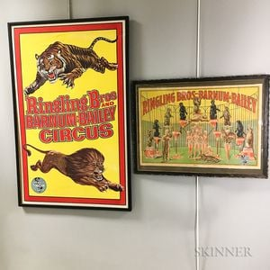 Two Framed Ringling Brothers and Barnum & Bailey Circus Posters