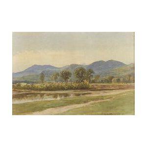 Samuel Peter Rolf Triscott (American, 1846-1925)  Distant Mountains