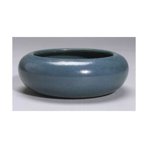 Saturday Evening Girls Matte Blue Bowl and Flower Frog