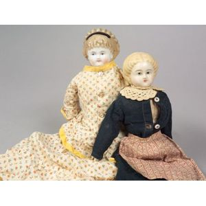Early China Head and Papier-mache Head Dolls