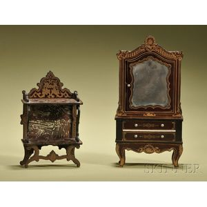 Waltershausen Etagere and Cabinet