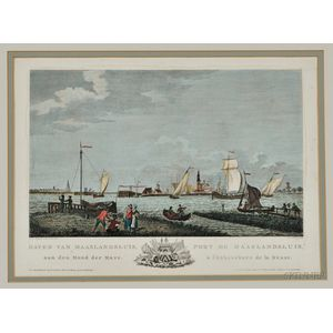 Dutch Harbor Scenes, circa 1780 by Mathias de Sallieth (1749-1791) and Others.