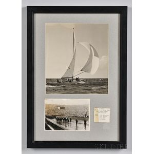 Framed Helsinki Olympics Yachting Photographs