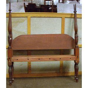 Late Federal Mahogany Tall Post Bed