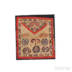 Uzbek Mounted Wool Embroidery on Animal Skin
