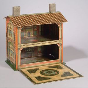 Larger McLoughlin Lithographed Doll House