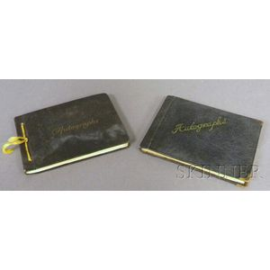 Two Circa 1940 Movie and Theater Star Autograph Albums