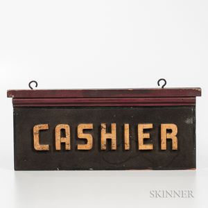 """Double-sided """"Cashier"""" Sign"""