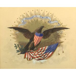 American School, 20th Century  Patriotic American Eagle.