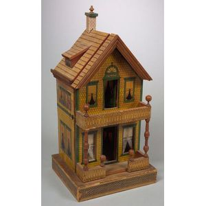Small Lithographed Doll House and Bliss Book