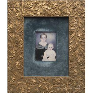 Portrait Miniature of Eliza Carolina Rice Blake and Child