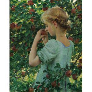 Charles Courtney Curran (American, 1861-1942)      Apple Perfume
