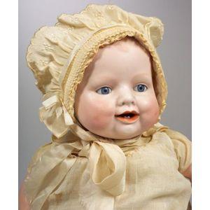 """Georgene Averill """"Bonnie Babe"""" Bisque Head Baby Doll"""