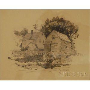 Antonio Cirino (American, 1889-1983)      Houses, Cape Ann