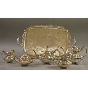 Reed and Barton Sterling Five-piece Hampton Court Coffee/Tea Service