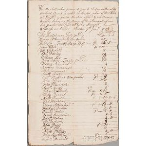 New Brick Church [aka] Second Church, Boston, Massachusetts, Two Documents, 1753 and 1802.