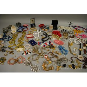 Large Group of Assorted Costume Jewelry.
