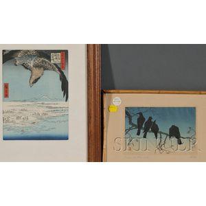 Two Japanese Woodblock Prints: