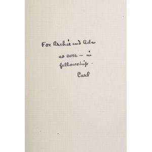 (Archibald MacLeish's Copy), Sandburg, Carl (1878-1967)
