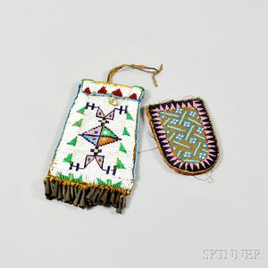 Two Beaded Pouches