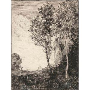 Jean-Baptiste-Camille Corot (French, 1796-1875)      Souvenir D