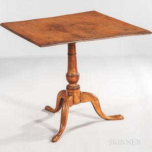 Tiger Maple Tilt-top Tea Table