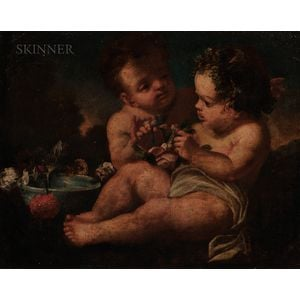 Flemish School, 17th/18th Century Putti with Flowers Flemish School...