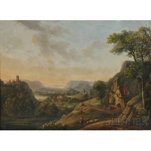 Attributed to Christian Georg Schütz II (German, 1758-1823)      View of the Rhine/An Expansive Landscape