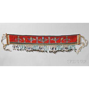 Blackfeet Beaded Cloth Martingale