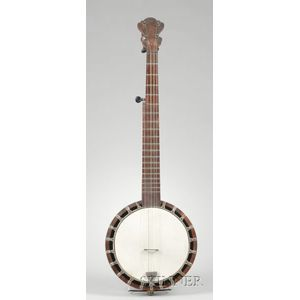 American Five-String Banjo, probably by J.H. Buckbee, c. 1900