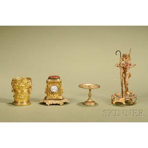 Four Miniature Ormolu Accessories