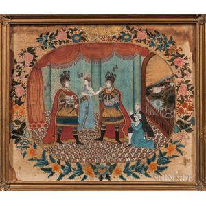 Silkwork Allegorical Picture