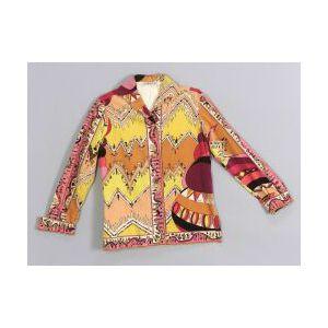 Emilio Pucci Velvet Button-down Shirt.