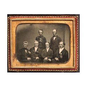 Quarter Plate Daguerreotype of Five Historical Figures