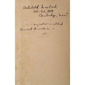 (Archibald MacLeish's Copy), Shakespeare, William