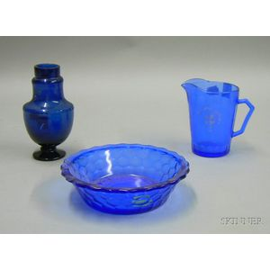 Two-piece Blue Glass Shirley Temple Breakfast Set
