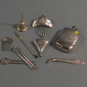 Nine Sterling Silver Personal Items